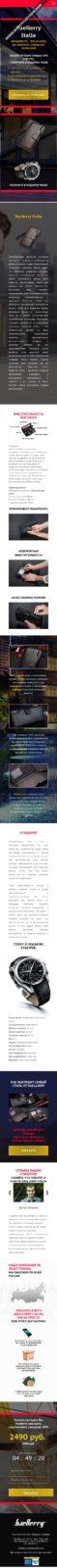 Скриншот лендинга Мужское портмоне Baellerry 003 - моб