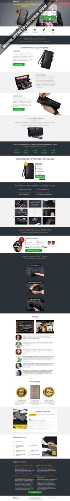 Скриншот лендинга Мужское портмоне Baellerry 006
