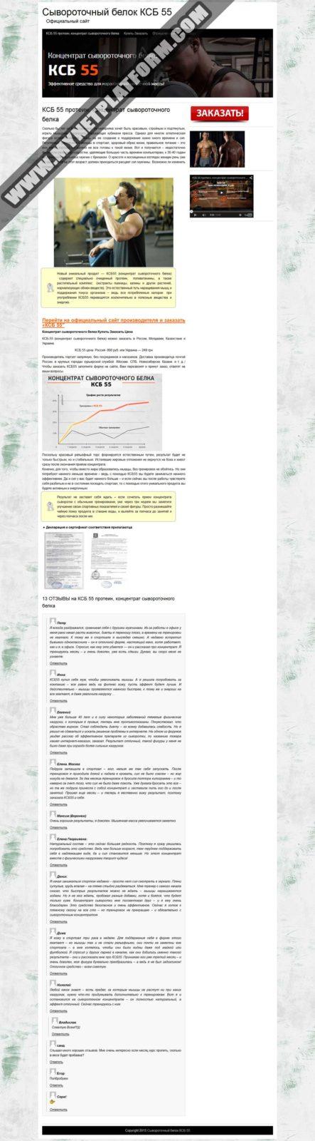 Скриншот Прокладка Официальный сайт для товара КСБ 55 01