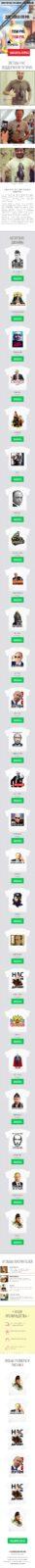 Скриншот лендинга Футболки с изображением президента Путина 001 - моб