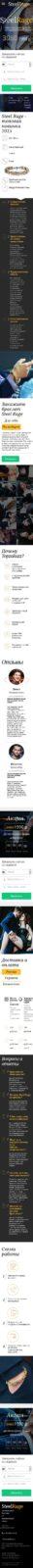 Скриншот Лендинга Браслет Steel Rage 001 - моб