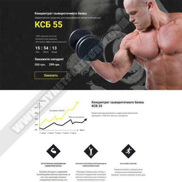 Миниатюра Готового лендинга КСБ-55: концентрат сывороточного белка 001