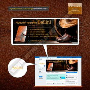 Миниатюра - Лого и обложка для Фейсбука к товару Bailini Long 001