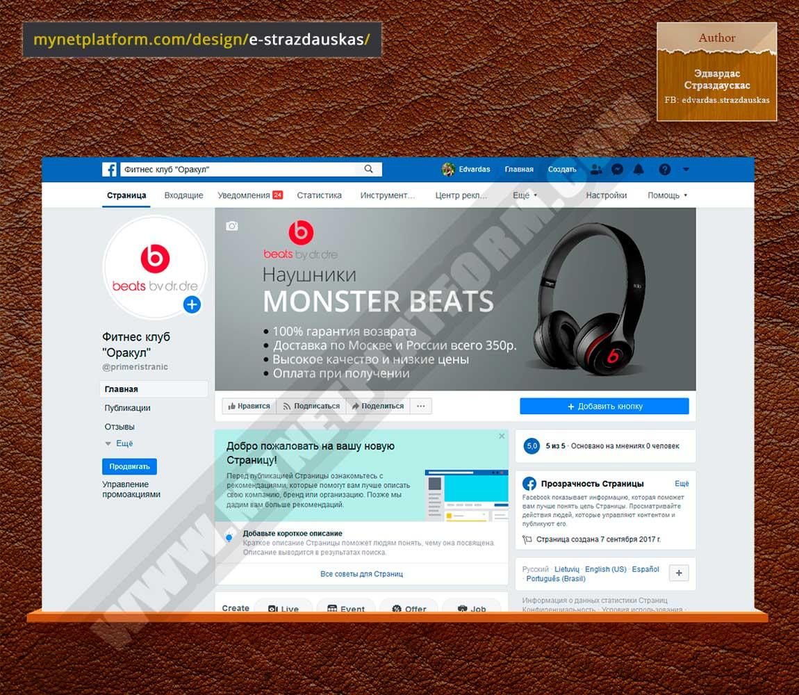 Скриншот - Лого и обложка для Фейсбука к товару Monster Beats Solo 2 001